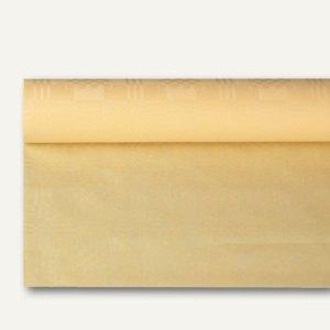 Papstar Papiertischtuch mit Damastprägung, 8 m x 1.2 m, creme, 12er-Pack, 18587