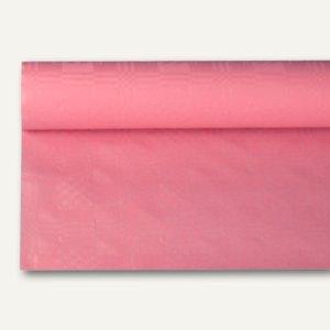 Papstar Papiertischtuch mit Damastprägung, 8 m x 1.2 m, rosa, 12er-Pack, 18590
