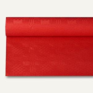 Papstar Papiertischtuch mit Damastprägung, 8 m x 1.2 m, rot, 12er-Pack, 18598