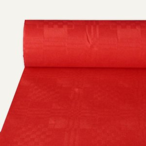 Papstar Papiertischtuch mit Damastprägung, 50 m x 1 m, rot, 4er-Pack, 12573