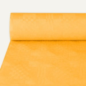 Papstar Papiertischtuch mit Damastprägung, 50 m x 1 m, orange, 4er-Pack, 16797