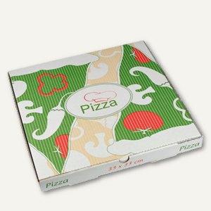 Pizzakartons Italienische Flagge