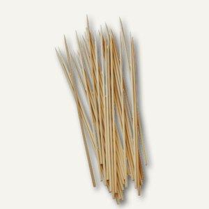 Papstar Schaschlikspieße, Bambus, Ø 2.5 mm, L 20 cm, 4.800er-Pack, 16620