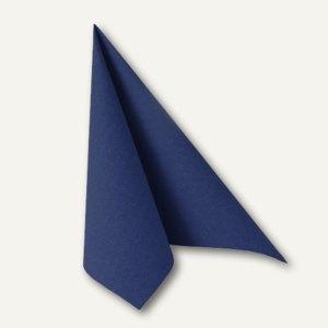 "Papstar Servietten ""ROYAL Collection"", 1/4-Falz, 40 x 40cm, blau, 160 St., 16903"