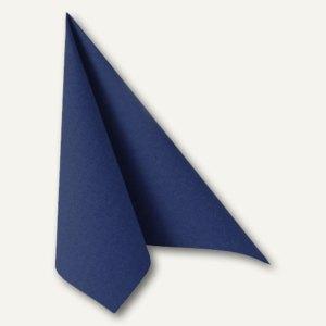 """Papstar Servietten """"ROYAL Collection"""", 1/4-Falz, 48x48cm, blau, 250St., 11575"""