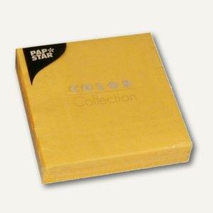 Papstar Servietten, 3-lagig, 1/4-Falz, 25x25cm, gelb, 300er-Pack, 14278