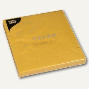 Papstar Servietten, 3-lagig, 1/4-Falz, 40x40cm, gelb, 400er-Pack, 14643