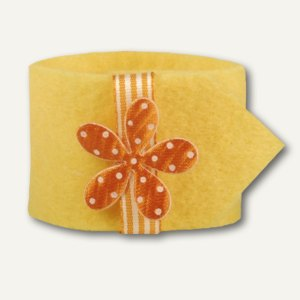 "Papstar Serviettenringe ""Flower"", Ø 4 cm, gelb, 24er-Pack, 81727"