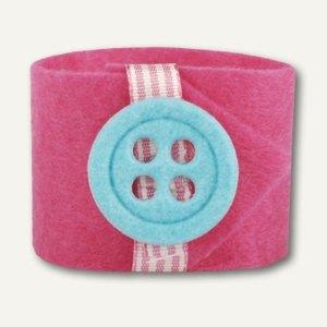 "Papstar Serviettenringe ""Button"", Ø 4 cm, pink, 24er-Pack, 81729"