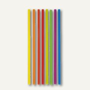Papstar Shake-Halme, starr, Ø 8 mm, 25 cm lang, farbig sortiert, 4.000 St.,81829