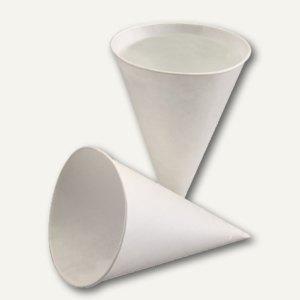 Papstar Spitzbecher, Papier, 115 ml, Ø 7.2 cm, H 9.5 cm, weiß, 5.000 St., 95120