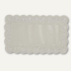 Papstar Spitzenpapiere, eckig, 30 cm x 18 cm, weiß, 2.000er-Pack, 12297