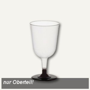 Papstar Rotwein-Stielgläser (Oberteile), 0.2 l, Ø 7.3 cm, 400 Stück, 12185