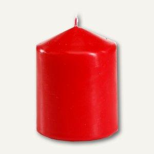 Papstar Stumpenkerze, Ø 80 mm, H 100 mm, rot, 6er-Pack, 13890