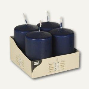 Papstar Stumpenkerzen, Ø 50 mm, H 80 mm, dunkelblau, 24er-Pack, 10485
