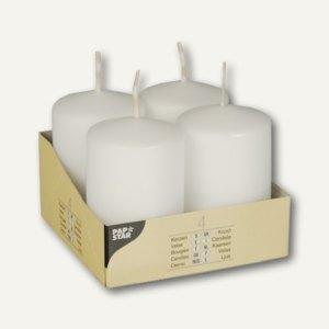 Papstar Stumpenkerzen, Ø 50 mm, H 80 mm, weiß, 24er-Pack, 10483