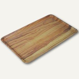 Tabletts mit Holzdekor