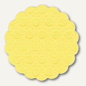 Papstar Tassen-Untersetzer, rund, Ø 9 cm, gelb, 400er-Pack, 14246