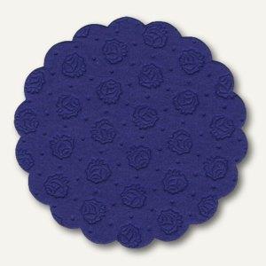 Papstar Tassen-Untersetzer, rund, Ø 9 cm, dunkelblau, 400er-Pack, 14248