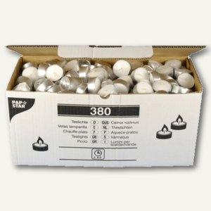 Papstar Teelichter, Ø 37 mm, H 14 mm, weiß, 380er-Pack, 13804