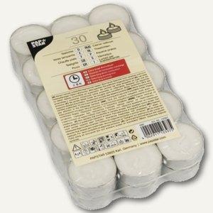 Papstar Teelichter, Ø 37 mm, H 19 mm, Brenndauer 6 h, weiß, 600er-Pack, 10397