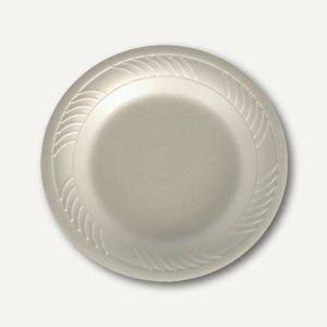 Papstar Teller rund, Ø 17 cm, 2.1 cm hoch, weiß , EPS laminiert, 600 St., 18079