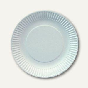 """Papstar Pappteller """"pure"""", rund, Ø 19 cm, extra stark, weiß, 550 Stück, 81201"""
