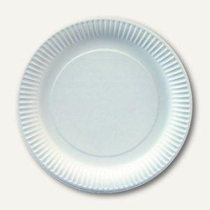 """Papstar Pappteller """"pure"""", rund, Ø 23 cm, weiß, 400 Stück, 81202"""