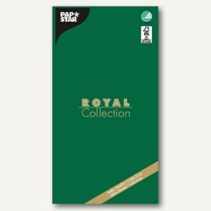 "Papstar Tischdecke ""ROYAL Collection"", Tissue, 120x180cm, grün, 10er-Pack, 81818"