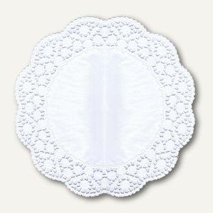 Papstar Tortenspitzen, rund, Ø 36 cm, weiß, 150er-Pack, 12261