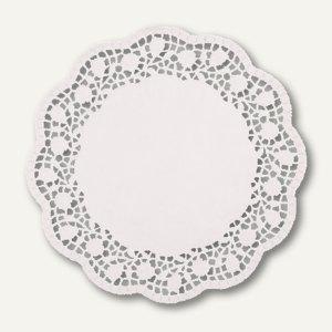 Papstar Tortenspitzen, rund, Ø 30 cm, weiß, 2.000er-Pack, 12263