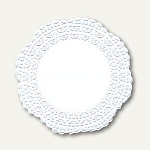 """Tortenspitzen """"Firenze"""" Fine Line, Premium-Qualität, rund, Ø15cm, weiß, 2.000St."""