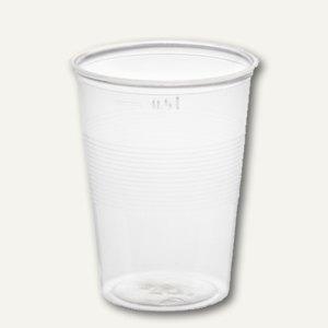 Trinkbecher, PS, 0.5 l, Ø 9.5 cm, 12.1 cm hoch, transparent, 1.200St., 16144
