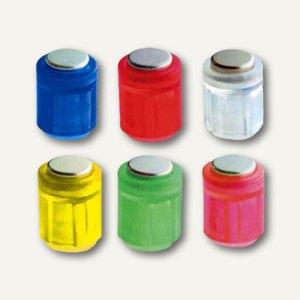 Power Magnet Zylinder Ø14 mm, Haft 1900g, farbig sortiert, 6er Pack, 4806-96