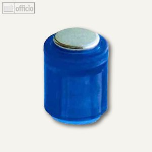 Laurel Power Magnet Zylinder Ø14 mm, Haft 1900g, kristallblau, 6er Pack, 4806-03
