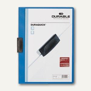 Durable Klemm-Mappe DURAQUICK, DIN A4, bis 20 Blatt, blau, 2270-06