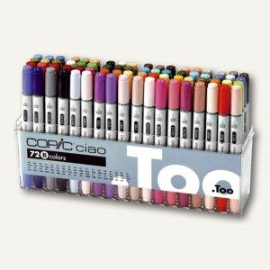 Copic Hobbymarker ciao Set B, farbig sortiert, 72er Set, 22075161