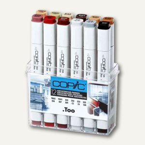 Copic Profi Marker Set Architektur, farbig sortiert, 12er Set, 20075701