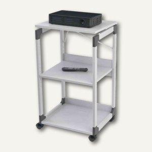 Durable SYSTEM für Overhead/Beamer-Trolley, 3 Böden, grau, 370110