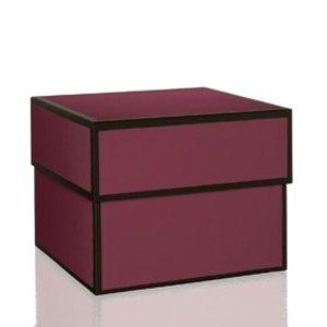 Rössler MAYFAIR Maxibox, quadratisch, 300x300x240mm, burgundy, 1346454400