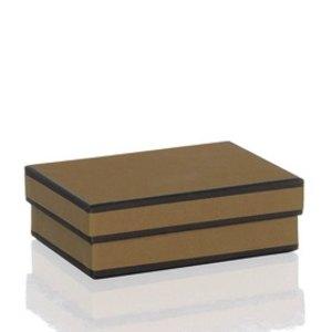 Rössler MAYFAIR Kartonage, rechteckig, 125x95x40mm, nougat, 3 Stück, 1350454300