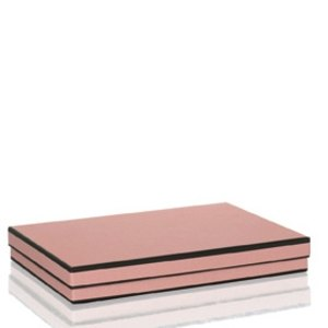 Rössler MAYFAIR Kartonage, rechteckig, für DIN A4, rosenholz, 3 Stück,1352454200