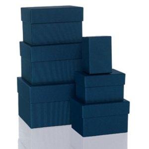 Rössler BOXLINE Kartonagen, rechteckig, div. Größen, navy, 6 Stück, 1344453900