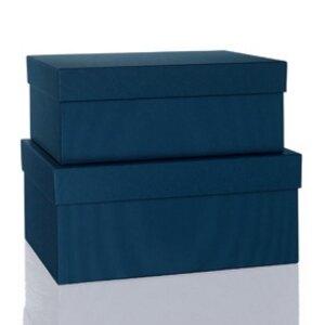 Rössler BOXLINE Kartonagen, rechteckig, div. Größen, navy, 2 Stück, 1345453900