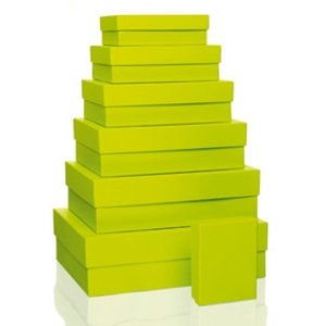 S.O.H.O. Aufbewahrungs-/Geschenkbox, div. Größen, limette, 7er Set, 1341452320