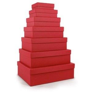 S.O.H.O. Aufbewahrungs-/Geschenkbox, div. Größen, rot, 7er Set, 1341452360
