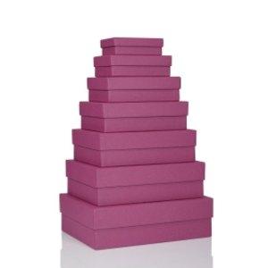 S.O.H.O. Aufbewahrungs-/Geschenkbox, div. Größen, cassis, 7er Set, 1341452400
