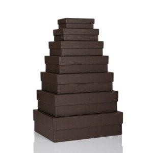 S.O.H.O. Aufbewahrungs-/Geschenkbox, div. Größen, espresso, 7er Set, 1341452870