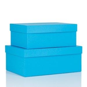 S.O.H.O. Aufbewahrungs-/Geschenkbox, div. Größen, pacific, 2er Set, 1349452480