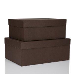 S.O.H.O. Aufbewahrungs-/Geschenkbox, div. Größen, espresso, 2er Set, 1349452870